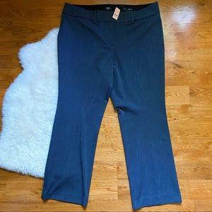 Loft PLUS Gray Trouser Straight Leg Work Pant